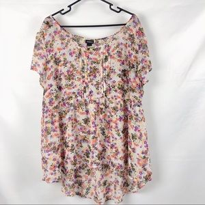 Torrid Floral Short Sleeved Blouse